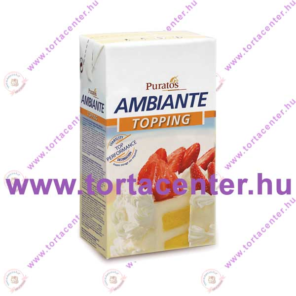 Ambiante Topping növényi tejszín (cukrász habalap, 1 l)