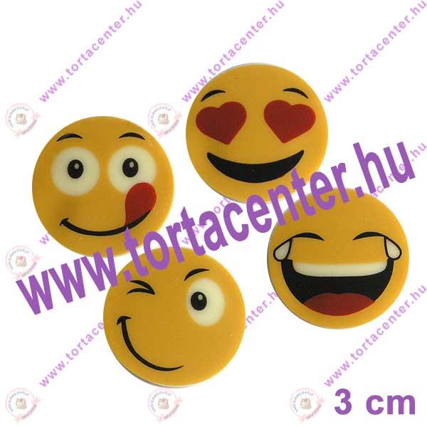 Smiley Fehércsokoládé dísz - vegyes mintával (10 db)