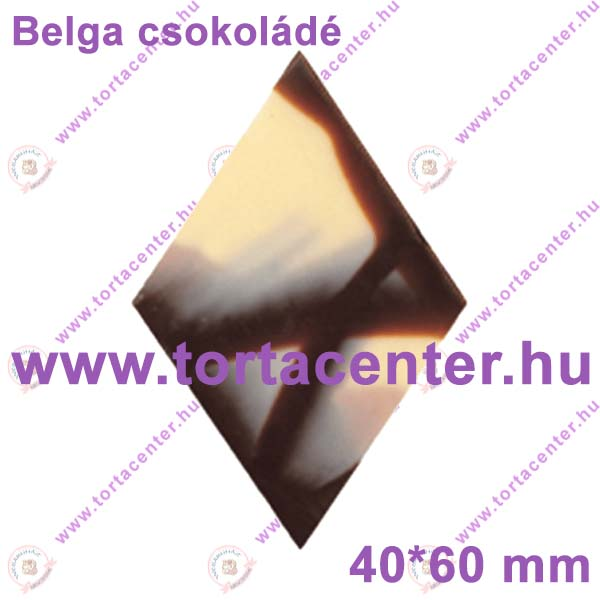Jura rombusz csokoládé dísz (24 db)