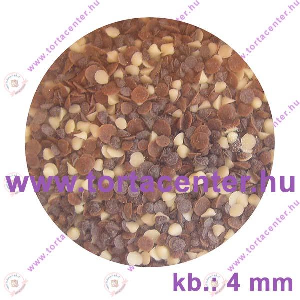 Csokoládé konfetti (ét, fehér, tej, 80 g)