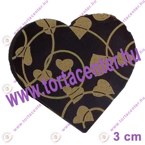 Szív étcsokoládé tábla (szívek, 20 db)