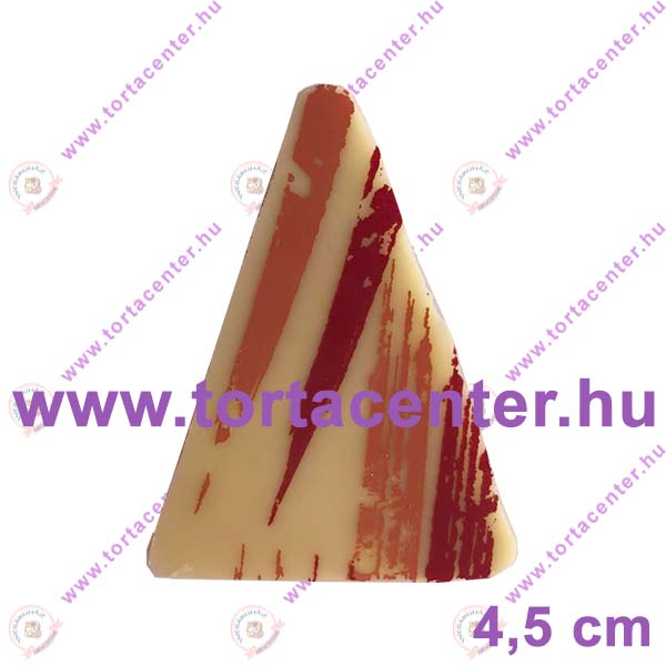 Ecsetnyom mintás fehércsokoládé dísz - háromszög (9 db)