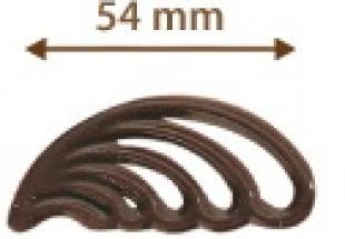 Madártoll étcsokoládé dísz (40 db)