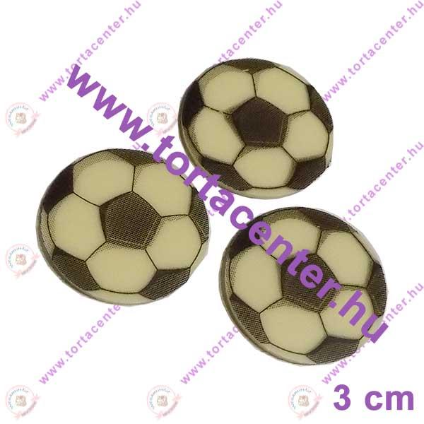 Focilabda fehércsokoládé korong - 3 cm (10 db)