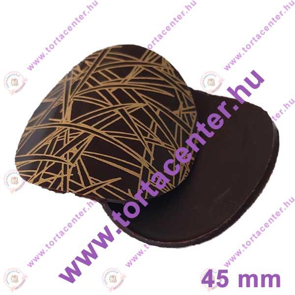 Hajlított étcsokoládé dísz (bambusz, 16 db)