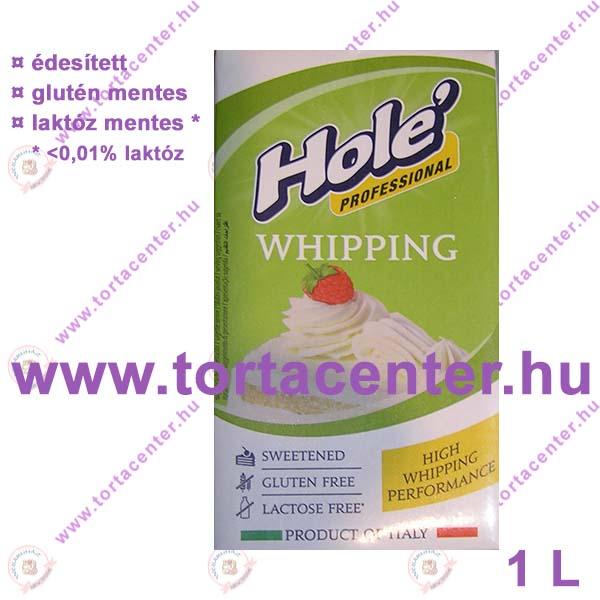 Hole professzionális növényi tejszín (cukrozott habalap, 1 l)