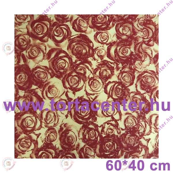 Mintás sütőpapír (rózsás)