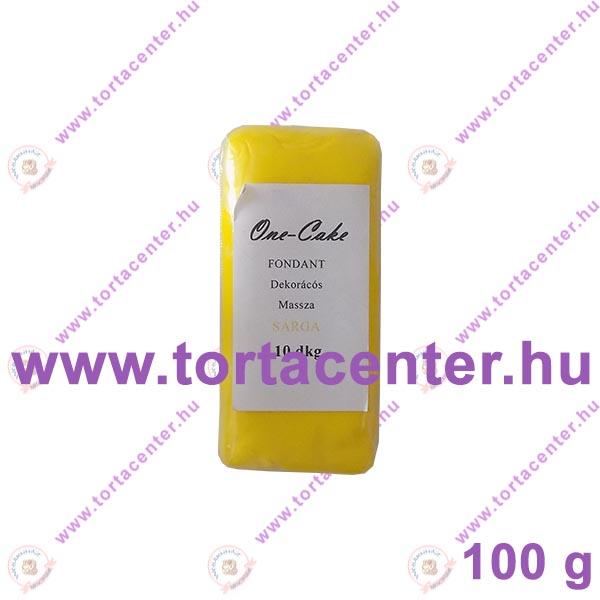 Tortabevonó massza, citromsárga (One-Cake, 100 g)