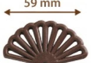 Legyező étcsokoládé dísz (40 db)