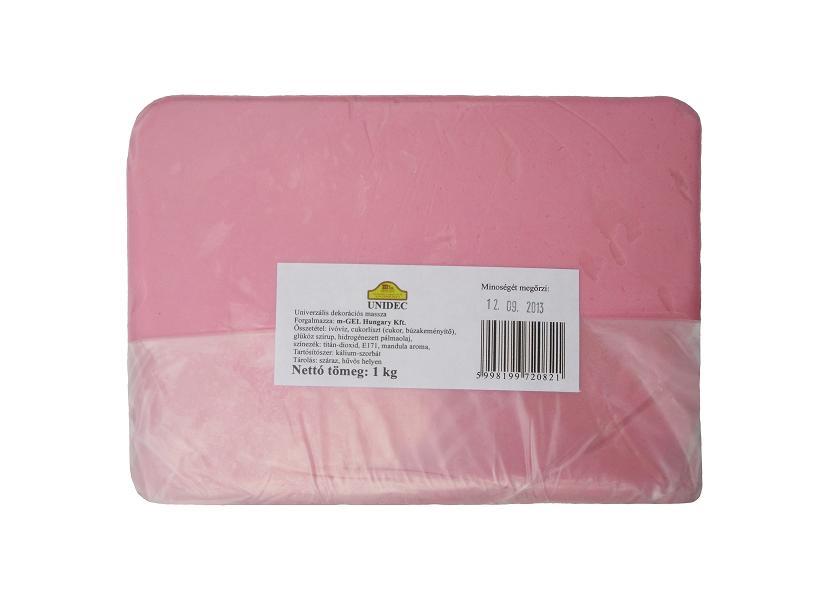 Tortabevonó massza, rózsaszín (Unidec, 1 kg)