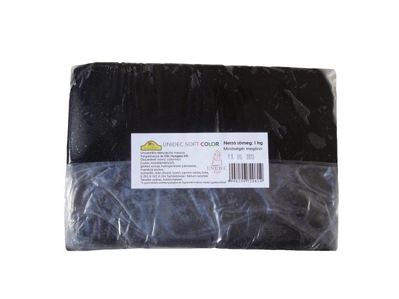 Tortabevonó massza, fekete (Unidec, 1 kg)