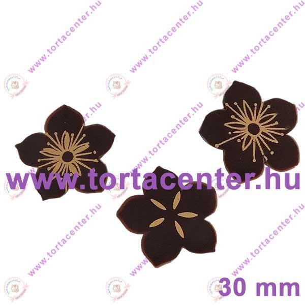 Virág étcsokoládé dísz (15 db)