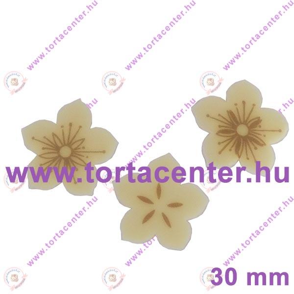 Virág fehércsokoládé dísz (15 db)