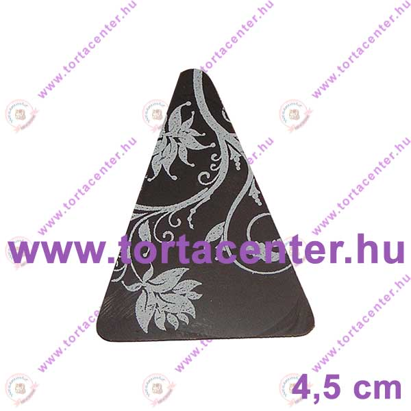 Virág mintás étcsokoládé dísz - háromszög (15 db)